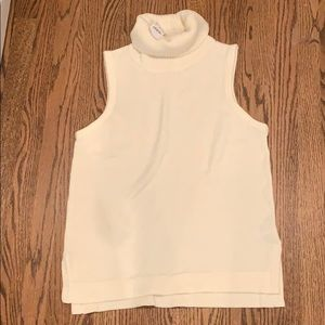 NWT Jcrew Turtleneck sweater tank top ivory/white